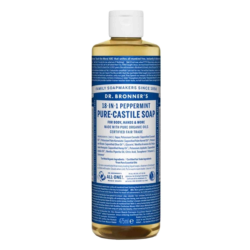 Peppermint PureCastile Liquid Soap, 475 ml Eko