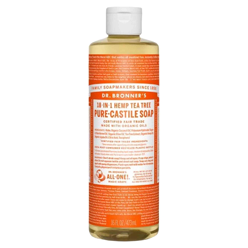 Tea Tree PureCastile Liquid Soap, 475 ml Eko