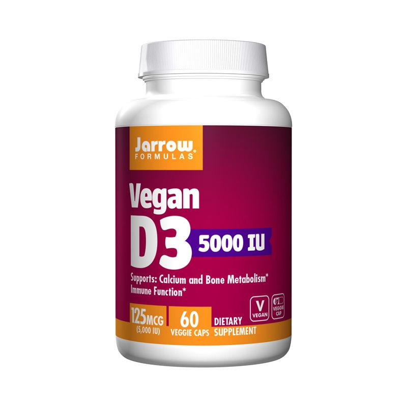 Vitamin D3 5000 IE Vegan, 60 kap