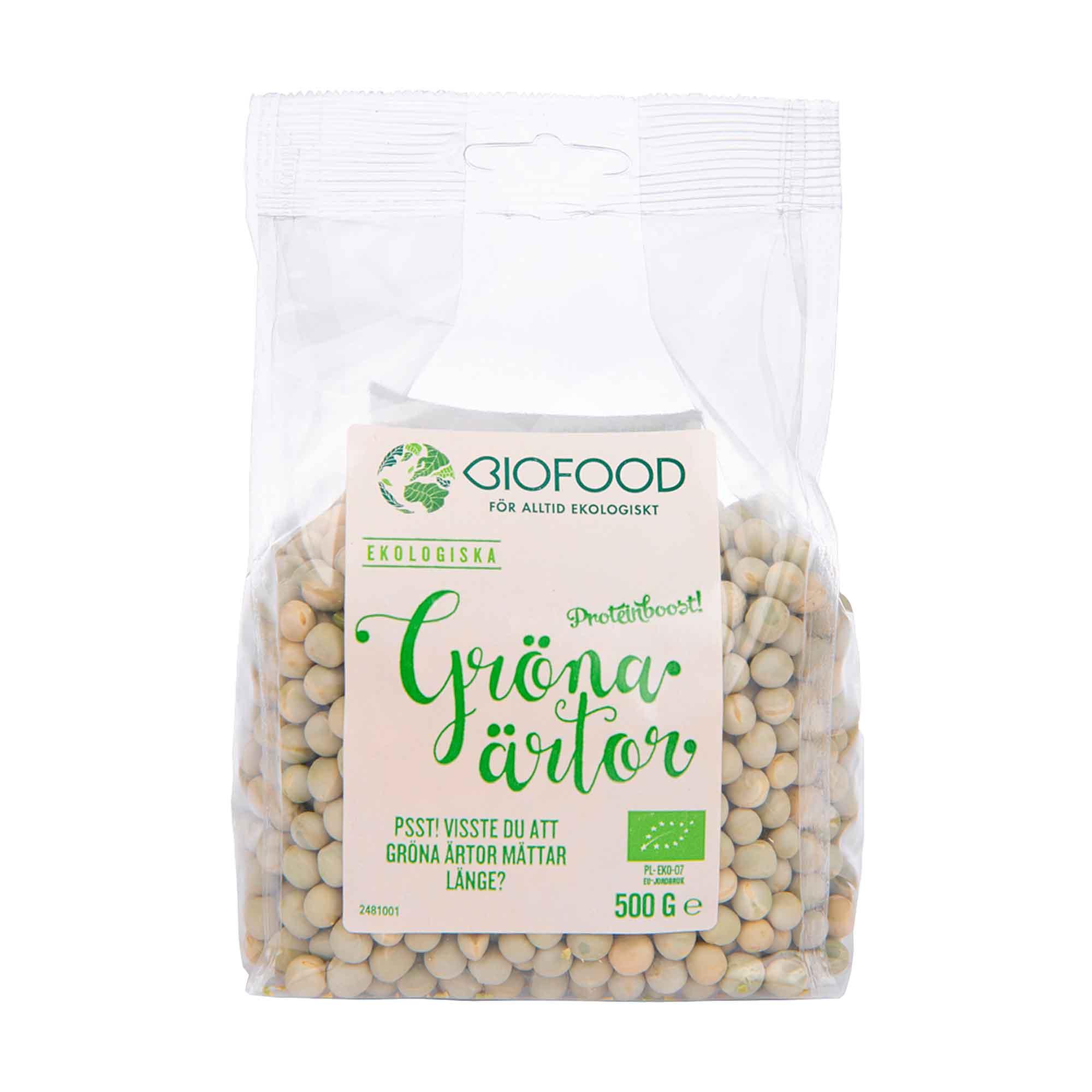 gröna ärtor kolhydrater